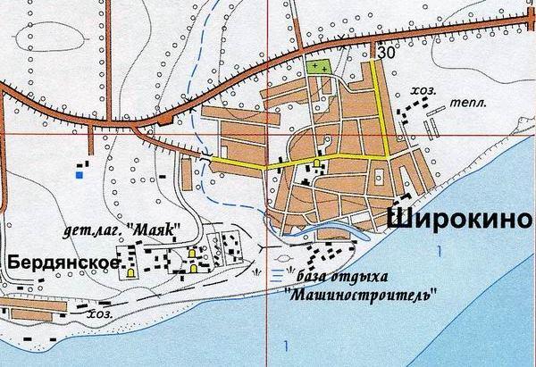 Berdyanskoe, lugar desde el que las fuerzas ucranianas atacan Shirokino