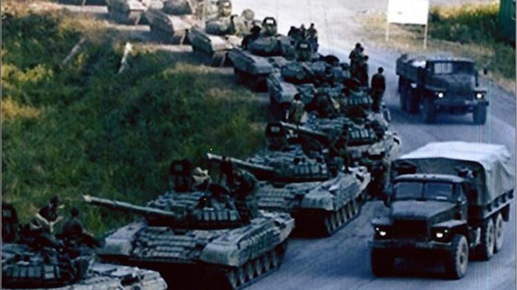 AP. Columna de tanques rusos