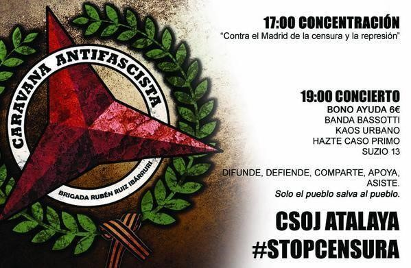 caravana antifascista madrid