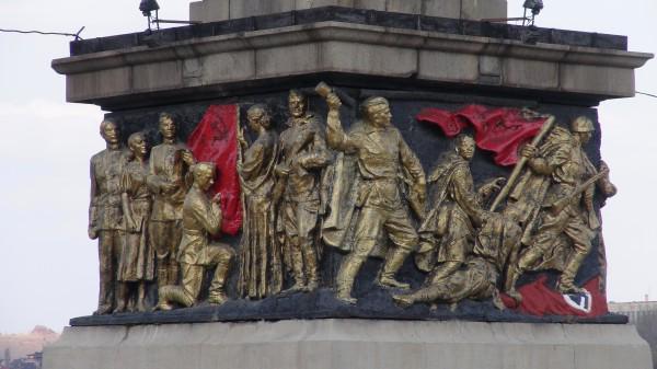 Un puente de Donetsk recuerda la vitoria soviética contra la Alemania Nazi