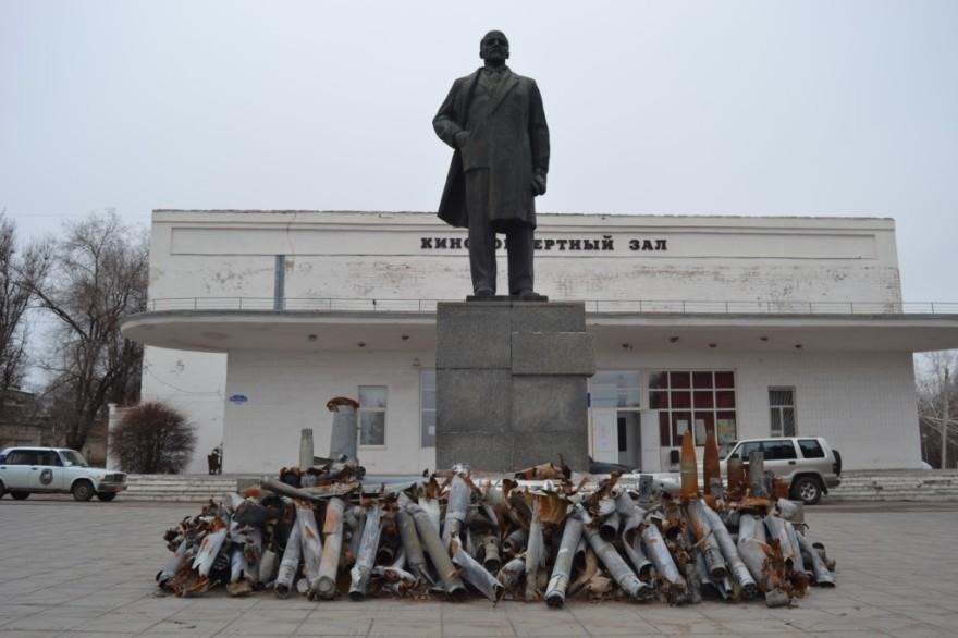 Ibai Trebiño: estatua de Lenin en el centro de Pervomaisk.