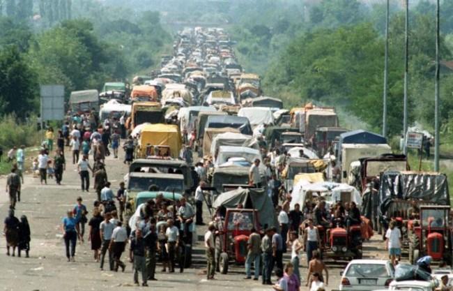 Éxodo de la población serbia de Krajina a causa de la operación Oruja, ejemplo a seguir según Wsley Clark