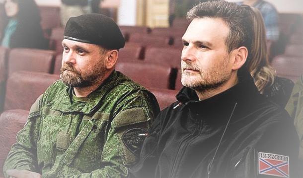 Mozgovoy y Markov en el Foro de Solidaridad Internacional celebrado a principios de mayo en Alchevsk