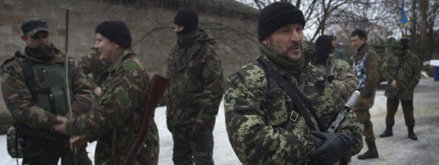 Isa Munayev, primer líder del batallón Dzhokhar Dudayev, en febrero.