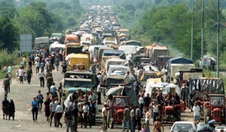 Éxodo del pueblo serbio de Krajin