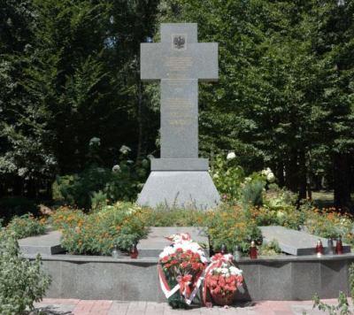 Monumento en memoria a los ciudadanos de origen polaco asesinados en la zona de Ivano-Frankivsk.