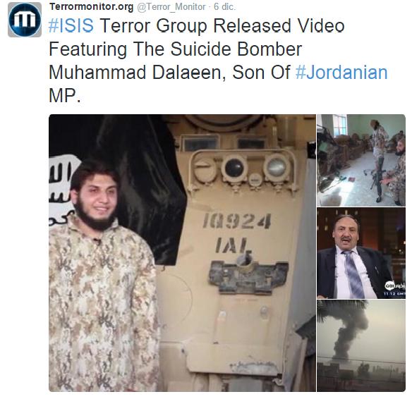Tweet de Terrormonitor.org del 6 de diciembre