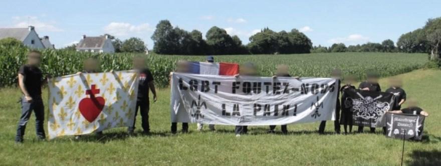 Los miembros del White Rebels Crew movilizados en Nantes contra una marcha LGTB