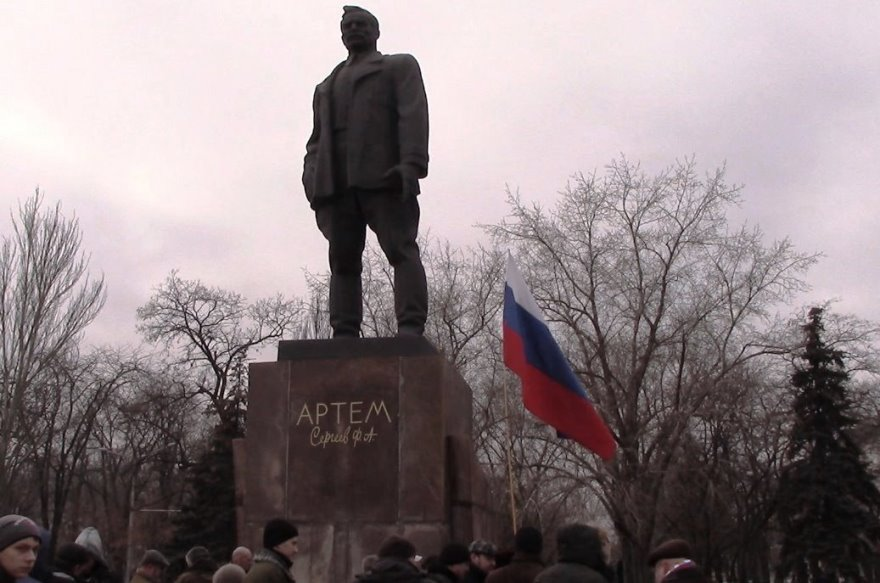 Monumento a Artyom en Donetsk.