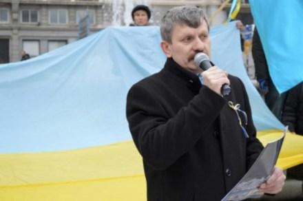 Yuriy Chopyk durante su intervención