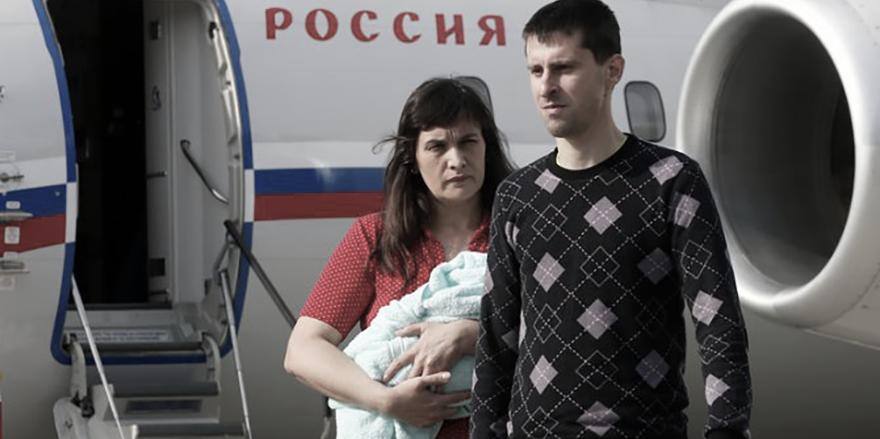 Glischinskaya y Didenko a su llegada a Moscú