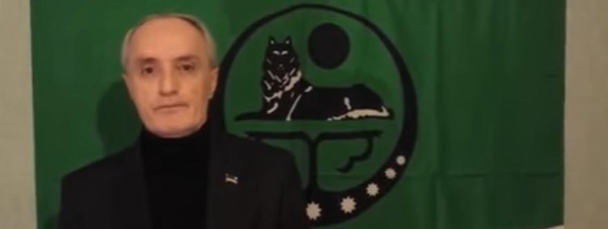 Musa Taipov durante su mensaje de apoyo a los ucranianos el 27 de febrero de 2014
