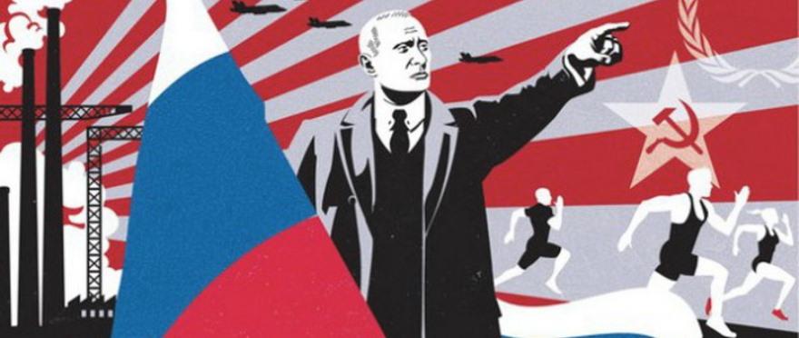 Imagen de propaganda publicada utilizada por Euromaidan Press en un artículo criticando la guerra informativa rusa en los inicios de la crisis ucraniana