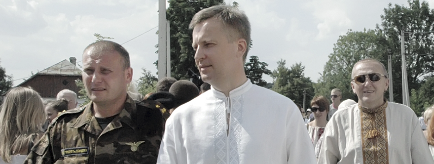 Valenty Nalyvaichenko en un acto de la organización liderada por Yarosh, Trizub, en 2011
