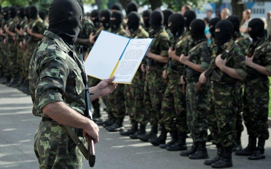 Los inicios del batallón Shakhtyrosk.