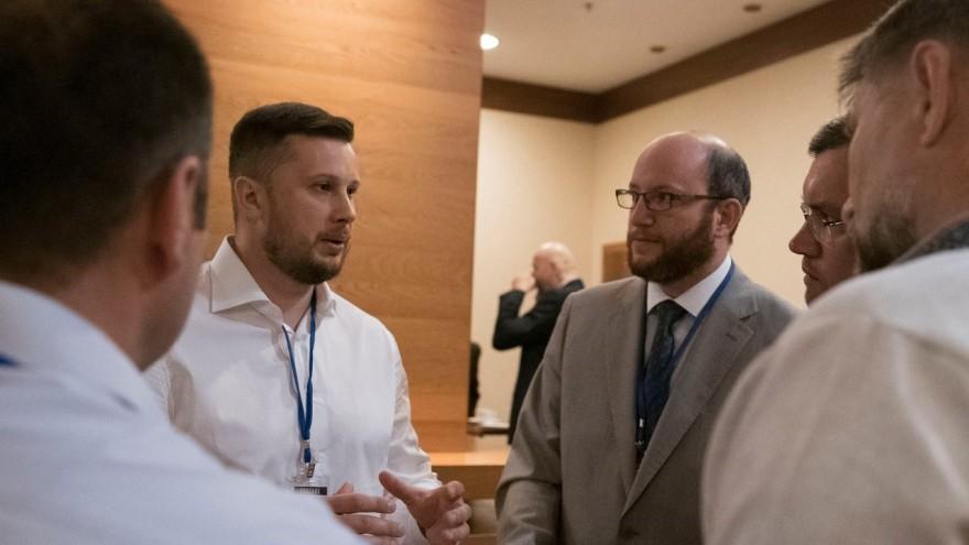 Biletsky, junto a otros participantes en la Conferencia Intermarium