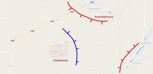 Kominternovo y Vodyanoye, al sur de la RPD, a escasos kilómetros de la ciudad costera de Mariupol.