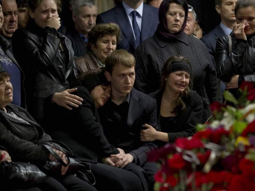 Funeral de Vyacheslav Markin el 5 de mayo de 2014.