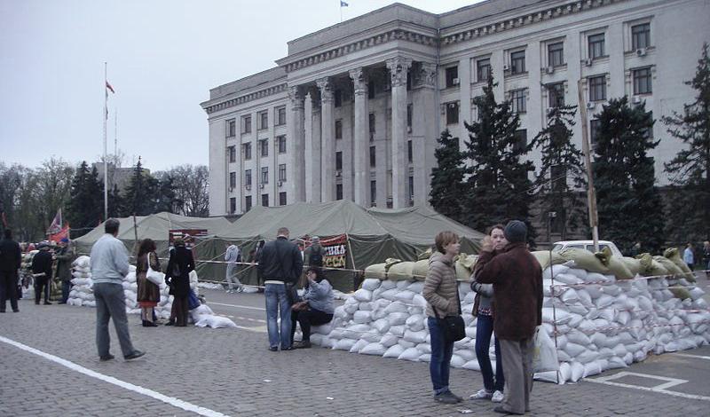 Campo de Kulikovo, Odessa. Campamento anti-Maidan, destruido el 2 de mayo.