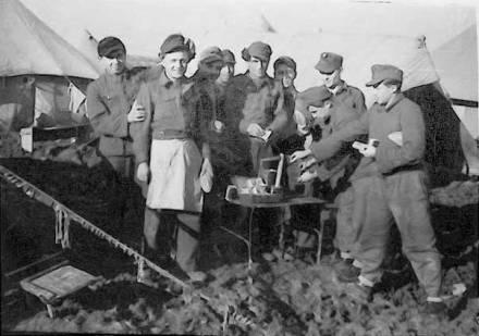 Miembros de la División Galicia en Rimini
