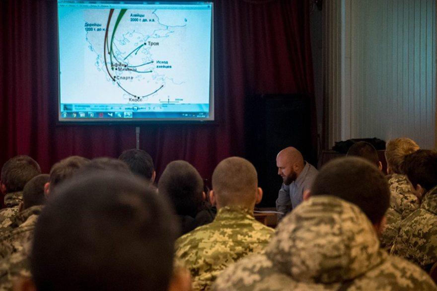 Alexei Levkin en el Colegio Militar de Kiev
